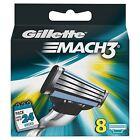 Gillette Mach 3 Razor Blades X 8 & Stalk Stick