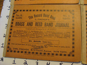 BAND-BOOKS-1905-Carl-Fisher-BRASS-amp-REED-BAND-BOOK-8-19-songs