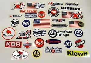Hard Hat Stickers Maxim USA 6 Sticker Lot Patriotic Crane Services New York City