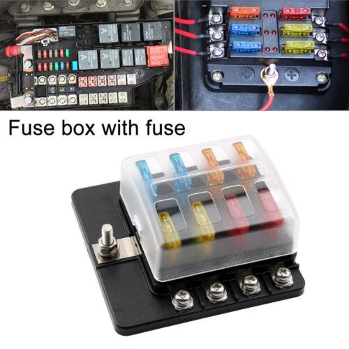 8 Way Blade Fuse Box Block Holder Terminal Circuit for Car Boat 32V Waterproof