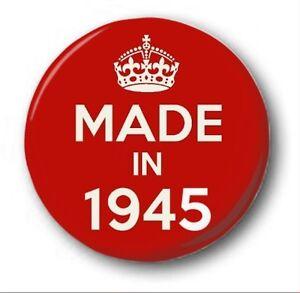 fabricado-en-1945-2-5cm-25mm-Boton-Insignia-Lindos-73rdd-Cumpleanos