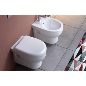 Vaso Wc Bagno Sospeso Smarty 2 0 Senza Brida In Ceramica Bianco Ebay