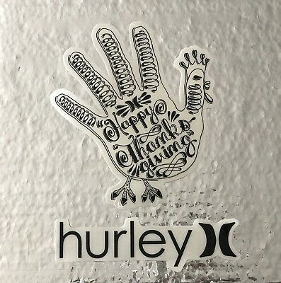 Hurley SK8//Surf//Snow//Water//Bike//Brands Automotive Decal//Bumper Sticker