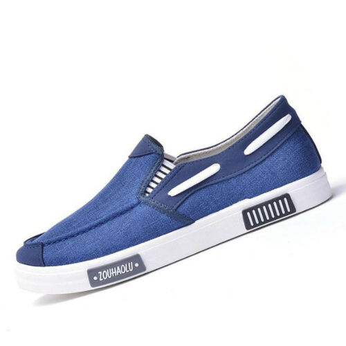 Men/'s Slip On Canvas Loafers Driving Moccasin Shoes Flats Sneakers Breathable