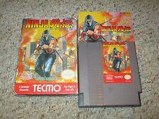 Ninja Gaiden 1 (Nintendo Entertainment System NES, 1989) Complete in Box GOOD