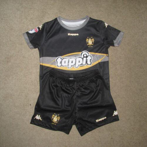 BURY FC Enfants Football Kit-Noir-Taille 2 ans