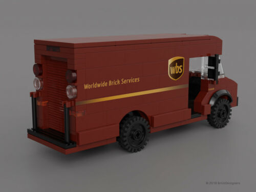 Instructions /& Stickers to build a custom Lego Delivery Truck NO BRICKS