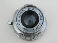 RARE Super Rokkor Chiyoko 45mm f:2.8 Leica SM lens Minolta 35 rangefinder