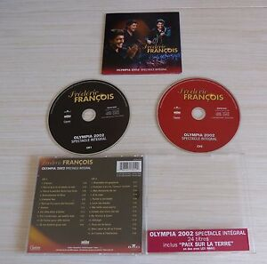 2-CD-ALBUM-LIVE-OLYMPIA-2002-SPECTACLE-INTEGRAL-FREDERIC-FRANCOIS-24-TITRES-2003