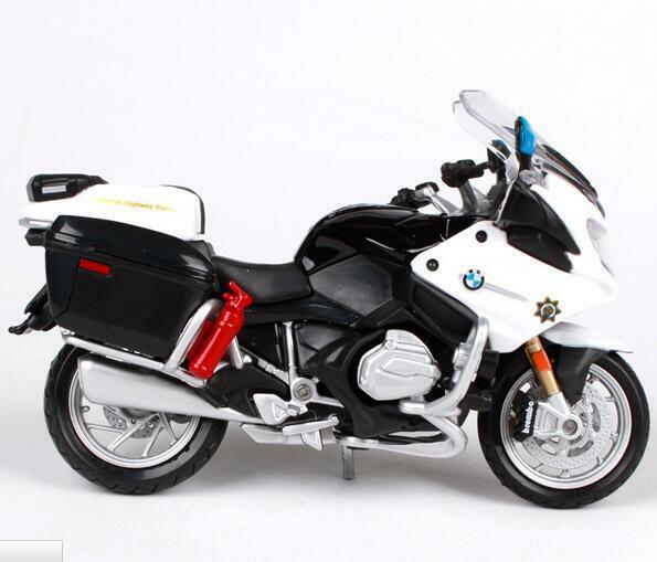 Maisto 1 18 Bmw R1200rt California R1200rt Police Motorcycle Bike Diecast Model