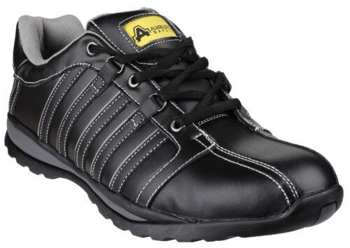 wholesale dealer 5a840 47918 Uk4 Steel Trainers Black Toe Fs50 12 Safety Cap Amblers Mens Shoes w4BHPaIq
