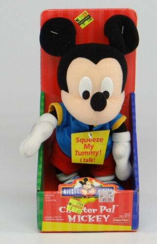 DISNEY'S MICKEY MOUSE FOR KIDS CHATTER PAL MICKEY Talking Fisher Price NEW