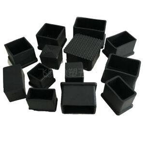 4x-Black-PVC-Chair-Square-Anti-Scratch-Furniture-Leg-Floor-Protector-End-Caps-UK