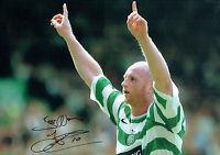 John HARTSON SIGNED Celtic Legend Scotland 18x12 Photo Autograph COA AFTAL