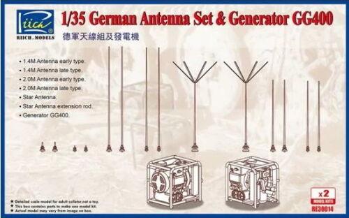 Riich Models 1//35 WWII German GG400 Generator /& Antenna Set w//PE 2pcs