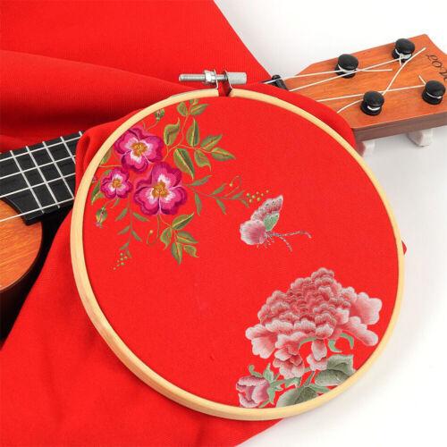 6x 10-36cm Bamboo Embroidery Hoop Rings DIY Cross Stitch Needle Craft Tool Set