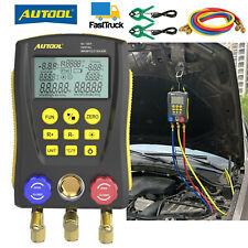 Refrigeration Digital Manifold Gauge Meter Kit Hvac Tester R 22 R 410a R 404a