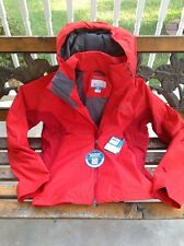 COLUMBIA MENS Large Slim Red ON THE MOUNT STRETCH JACKET WATERPROOF BREATHABLE