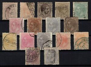 P133288-SPAIN-ALFONSO-XII-1878-1882-USED-CLASSIC-LOT-CV-165