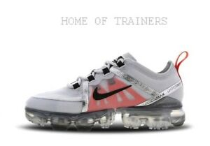 d8e74ad98f2 Nike Air Vapormax 2019 Pure Platinum Black White Kids Boys Girls ...