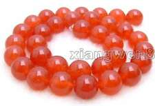 "SALE Big High quality round 12mm Red jade gemstone beads strands 15""-los420"