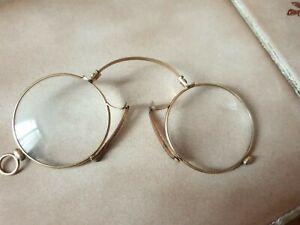 lunettes anciennes pince-nez binocles lorgnons début XXème plaqué or