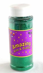 Glitter-Green-Shaker-Pots-Green-100g-approx-by-Amazing-Arts-and-Crafts