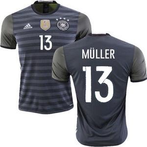 39f6761675a0a A imagem está carregando Adidas-Alemanha-Euro-2016-Thomas-Muller-Away -Jersey-