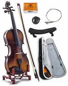 NEW-Solid-Maple-Spruce-Fiddle-Violin-1-4-Size-w-Case-Bow-Rosin-String-VN201