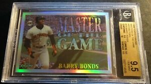 1996-BARRY-BONDS-TOPPS-CHROME-MASTERS-OF-GAME-REFRACTOR-18-BGS-9-5-POP-1-435