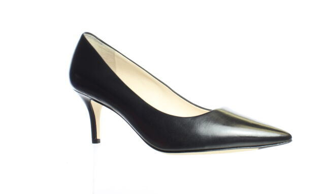 Cole Haan Womens Vesta Black Leather Pumps Size 7.5 (1235657)