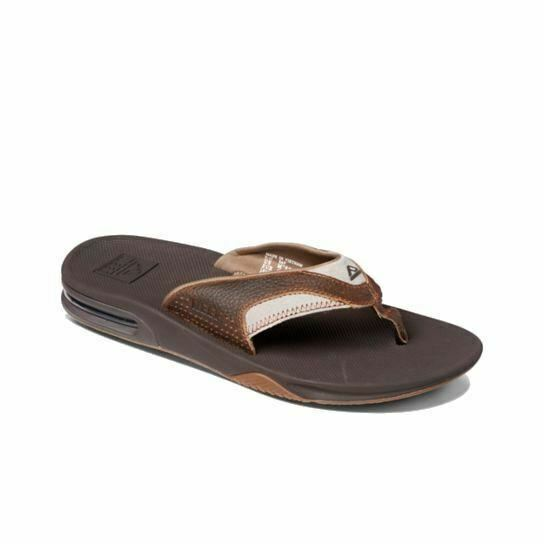 ec0c696a52ed Reef Mens Leather Fanning Sandal Brown brown 11 M US for sale online ...