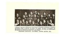 Western Military Academy Upper Alton Illinois 1904 Football Team Picture