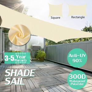 300D-Sonne-Schatten-Segel-wasserdicht-Garten-Patio-Markise-Vordach-Bildschirm