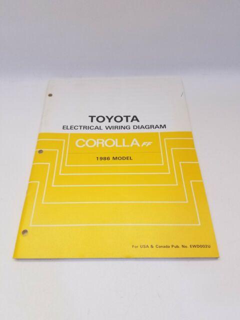 1986 Toyota Corolla Ff Ae82 Factory Electrical Wiring