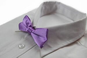 BOYS-LILAC-PURPLE-BOW-TIE-Little-Baby-Toddler-Kids-Adjustable-Pretied