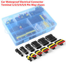 Waterproof Lightweight Car Electrical Connector Terminal 1/2/3/4/5/6 Pin+Fuses