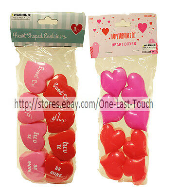MOMENTUM BRANDS 8 Containers/Boxes HEARTS Bag Filler VALENTINES DAY *YOU CHOOSE*