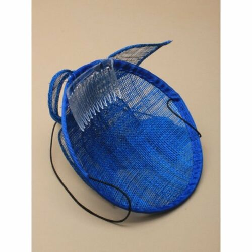 Kingfisher Blue Feather Fascinator  Ladies Races Hat Party Wedding  Royal Ascot
