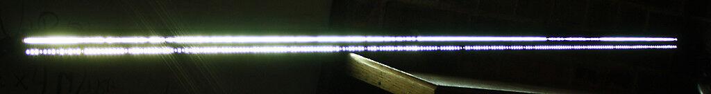 56  4ft 8  Fiber Optic Light Bar Bar Bar 1 2  Dia Fiber strands dual lined Display Unit f441db