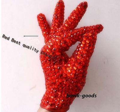 Michael Jackson Rare Billie Jean Dancer RED Glove SHINNING RHINESTONE
