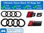 Audi-S5-Gloss-Black-badge-Anneaux-Calandre-Boot-Kit-badge-embleme-Set miniature 1
