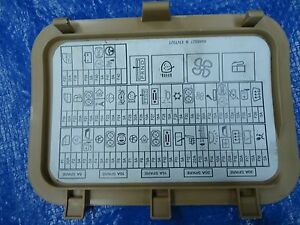 02-2008 mini cooper r50 r52 r53 fuse box module label trim ... 2005 mini cooper fuse diagram #13