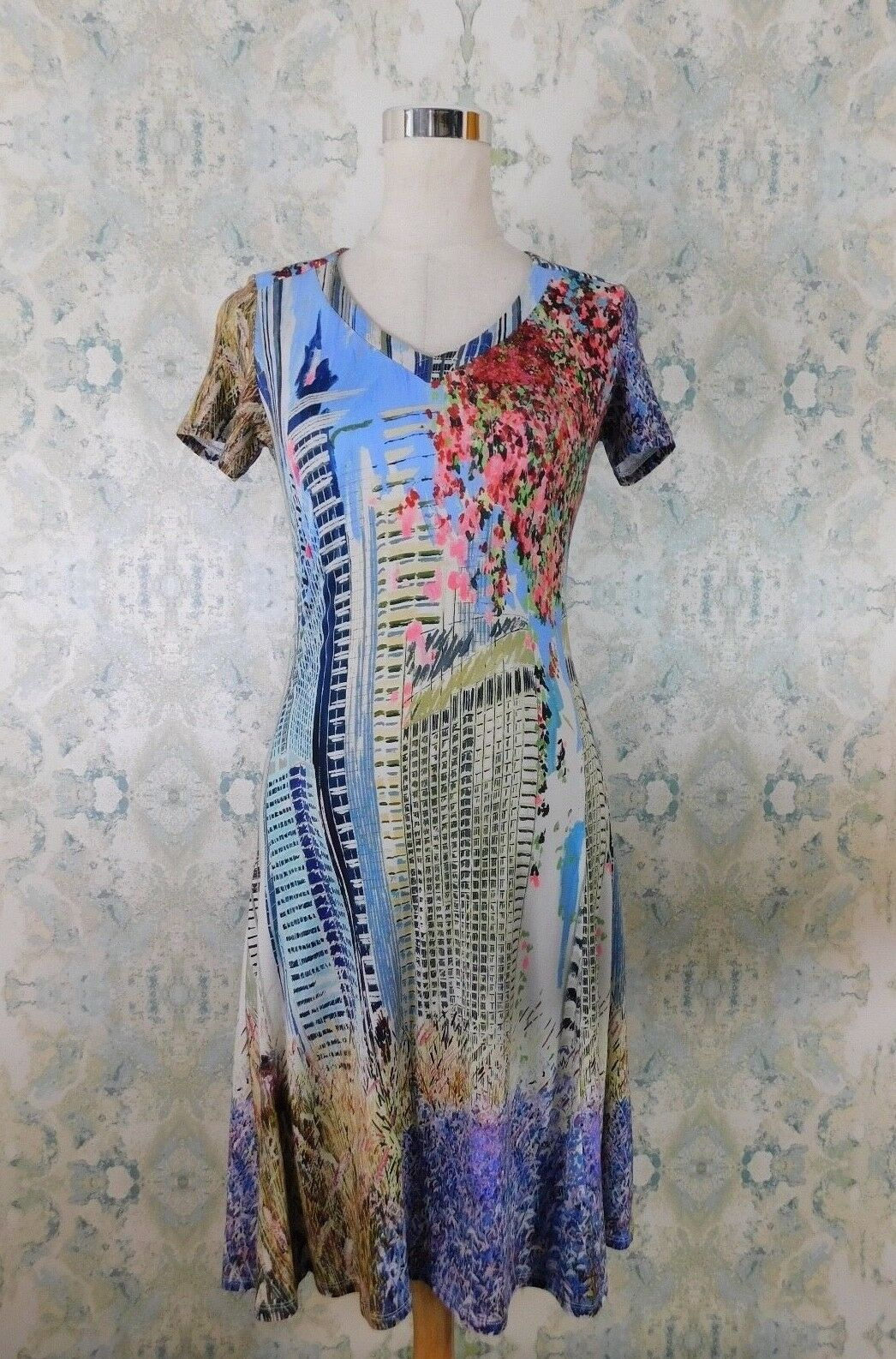 Aventures des Toiles Multi ColGoldt City Floral Print Stretchy Summer Dress 34