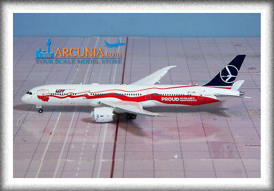 """Jc Wings 1:400 Lot Boeing 787-9 """"poland Independence - Sp-lsc"""" Flaps Down Xx4062"""