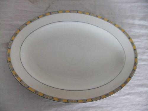 C4 Porcelain Grindley Chester Yellow Grey Floral Rim VINTAGE Art Deco 7E4B
