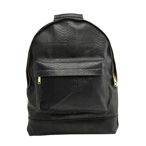 Mi-Pac Python Premium Backpack Black Rucksack schwarz Schlangenhaut Bag Gold NEU