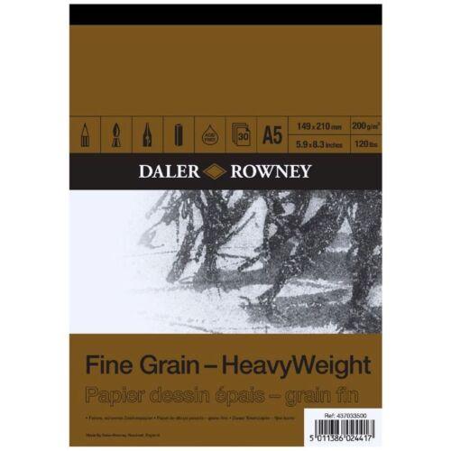 Daler Rowney Grain Fin poids lourd A5 gommées Pad 200gsm