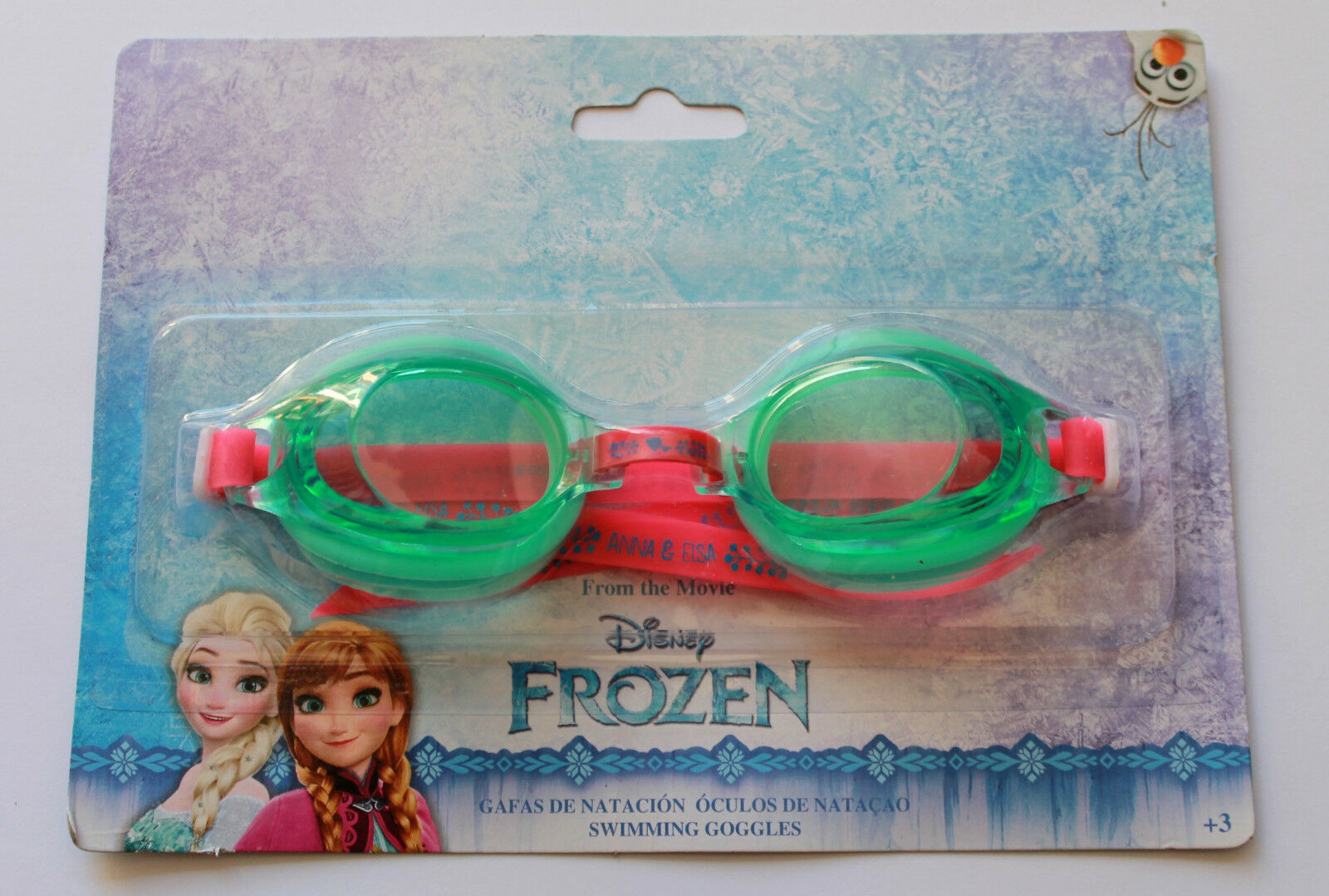 d2adabb17 Disney Frozen Anna Elsa Girls Swimming Goggles Age 3 Green and Pink ...