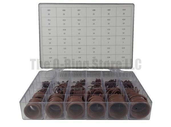 OSK™ Industrial Standard FKM Viton® 75 O-Ring Kit 36-Sizes 436-Pieces Brown
